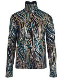 Dries Van Noten Embroidered Top - Blue