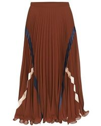 See By Chloé Pleated Skirt - Brown