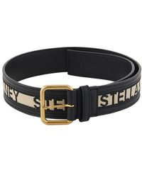 Stella McCartney Logo Belt - Black