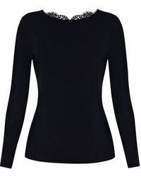 La Perla T-shirt à manches longues en coton - Noir