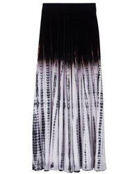 Proenza Schouler Jupe Tie-Dye - Noir