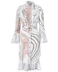Thebe Magugu Suminagashi Shirt Dress - Grey