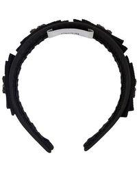 Erdem Bow Headband - Black
