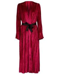 Forte Forte Kimono en velours - Rouge