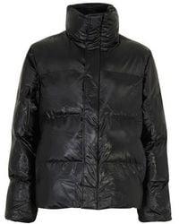 Rains Puffer Jacket - Black