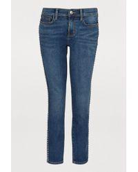 Current/Elliott - The Caballo Stiletto Studded Jeans - Lyst