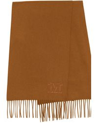 MAX MARA Women/'s Baviera Tobacco Printed Silk Scarf $215 NWT