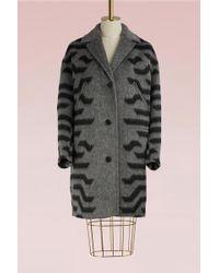 KENZO - Zipped Pockets Wool Coat - Lyst