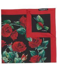 Dolce & Gabbana Floral Print Scarf - Green