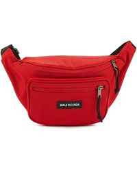 Balenciaga Explorer Belt Bag - Red