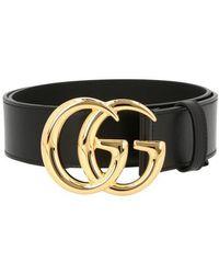 Gucci Ceinture GG Marmont - Noir