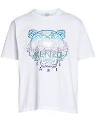 KENZO T-shirt Tigre Festive - Blanc
