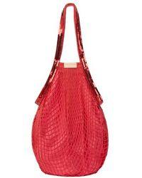 Vanessa Bruno Sequins Fishnet Bag - Red