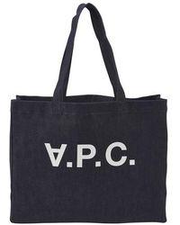 A.P.C. Daniela Shopping Bag - Blue