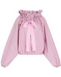 Patou Puff Sleeve Top - Pink