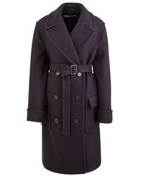 Dries Van Noten Blended Wool Coat - Blue
