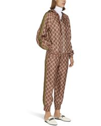 Gucci Pantalon jogging GG Supreme - Multicolore