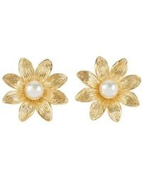 Aurelie Bidermann Primavera Clip-on Earrings - Metallic