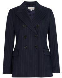 ALEXACHUNG Buttoned Jacket - Blue