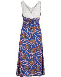 Stella Jean Knotted Dress - Blue