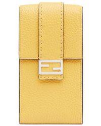 Fendi Iphone X Case - Yellow