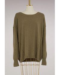Roberto Collina - Oversized Sweater With Stitching - Lyst