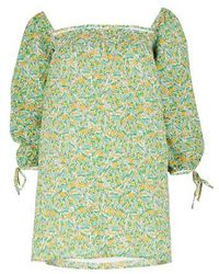 Faithfull The Brand Robe mini Rosaleen - Vert