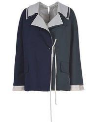 Marni Tie-front Jacket - Blue