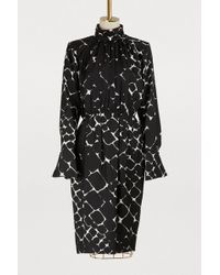 Marc Jacobs - Long-sleeved Printed Dress - Lyst