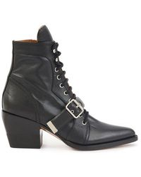 Chloé Rylee Ankle Boots - Black