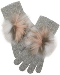 Yves Salomon Gloves With Fur - Multicolor