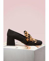 Prada - Leopard Loafers - Lyst