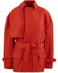 Jacquemus Carini Short Coat - Red