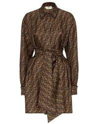 Fendi Brown Twill Dress