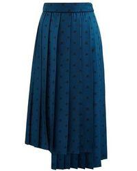 Fendi Gonna Karligrafy Pleated Skirt - Blue