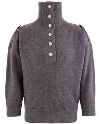 Stella McCartney Wool Hooded Sweater - Gray