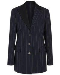 Loewe Tuxedo Striped Jacket - Blue