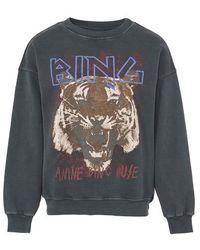 Anine Bing Bing Tiger Sweatshirt - Black