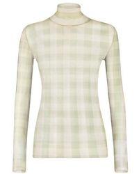Fendi Nylon Long Sleeves Top - Natural