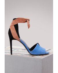 Pierre Hardy Suede Secret Sandals - Blue