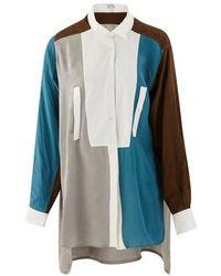 Loewe Long Asymmetric Shirt - Blue