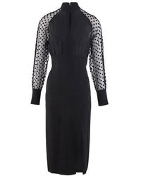 Balmain Polka Dot Dress - Black