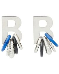 Balenciaga Multirings Xl Earrings - Blue
