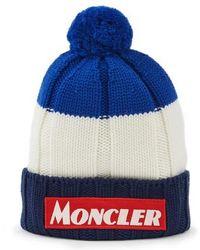 Moncler - Tricolour Beanie - Lyst