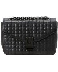 Celine Medium C Bag In Quilted Calfskin - Black