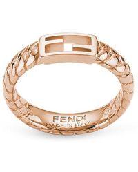 Fendi Baguette Ring - Pink