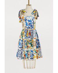 Dolce & Gabbana - Majolica Print Dress - Lyst