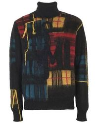 JW Anderson Jwa Patchwork Turtleneck - Black