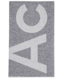 Acne Studios Schal Toronty mit Logo - Blau