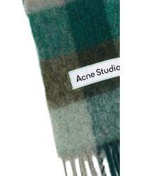 Acne Studios Schal aus Mischwolle Vally Oversize - Grün